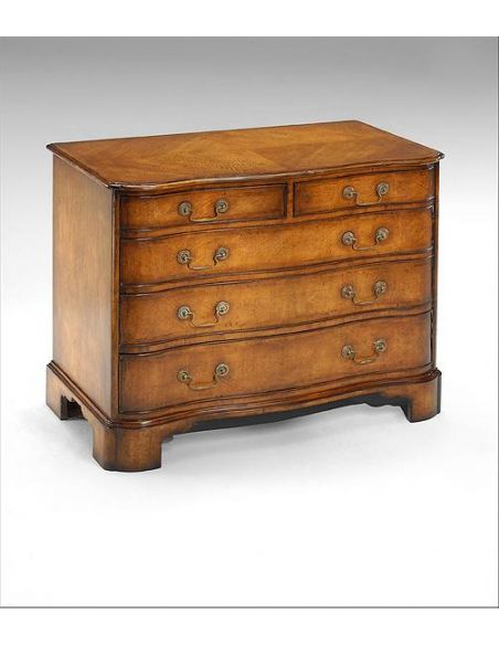Chest of Drawers Chest Of Drawers with hand distressing and four Oak lined drawers