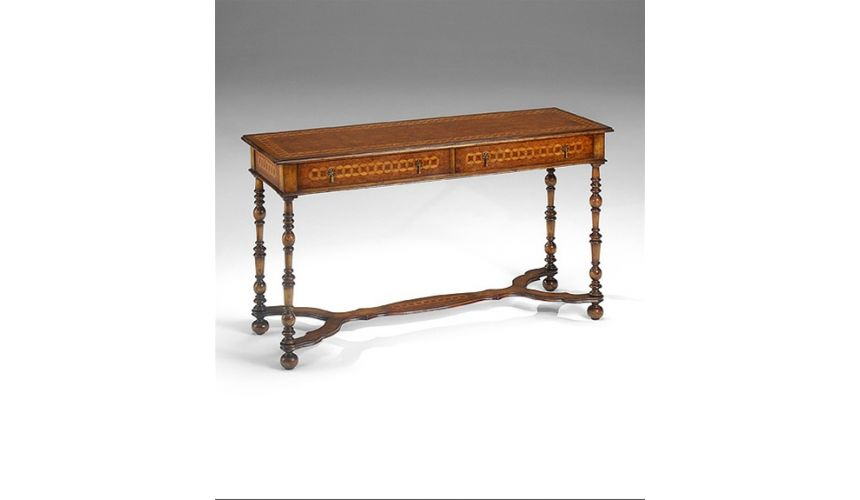 Console & Sofa Tables Large Burl Console Table