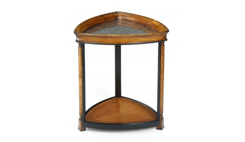 Round & Oval Side Tables Luxury Furniture Triangular Side Table