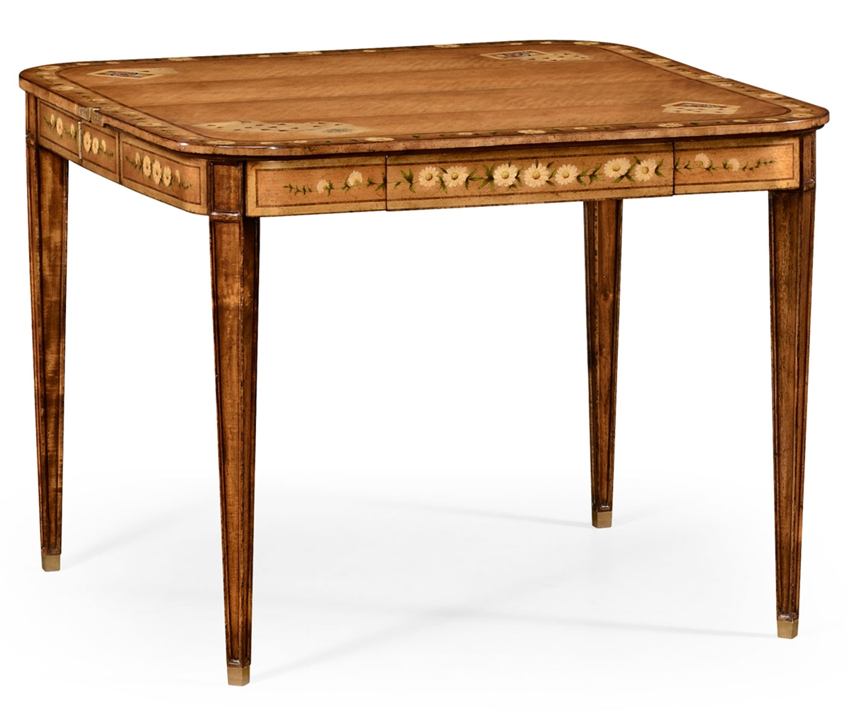 Regency style extending card table 48 for Html table style