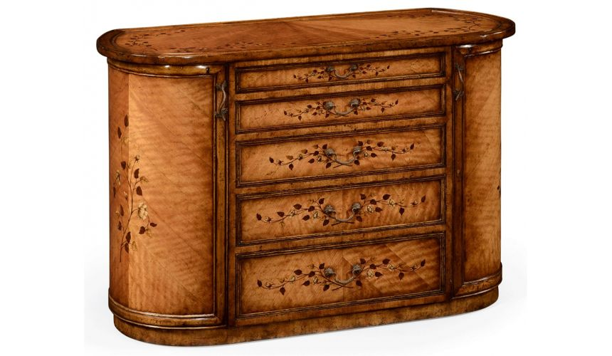 Round & Oval Side Tables Vanity Table With Drawers and Storage-16