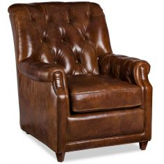 Leather Tufted Parson Chair