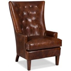 Tufted Leather Woodcrest Chair
