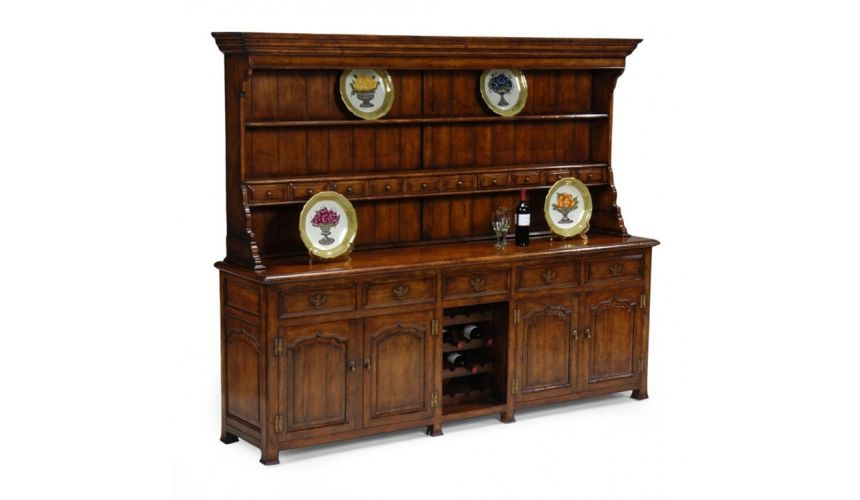 Breakfronts & China Cabinets Bar Furniture Welsh Dresser, Wine Rack
