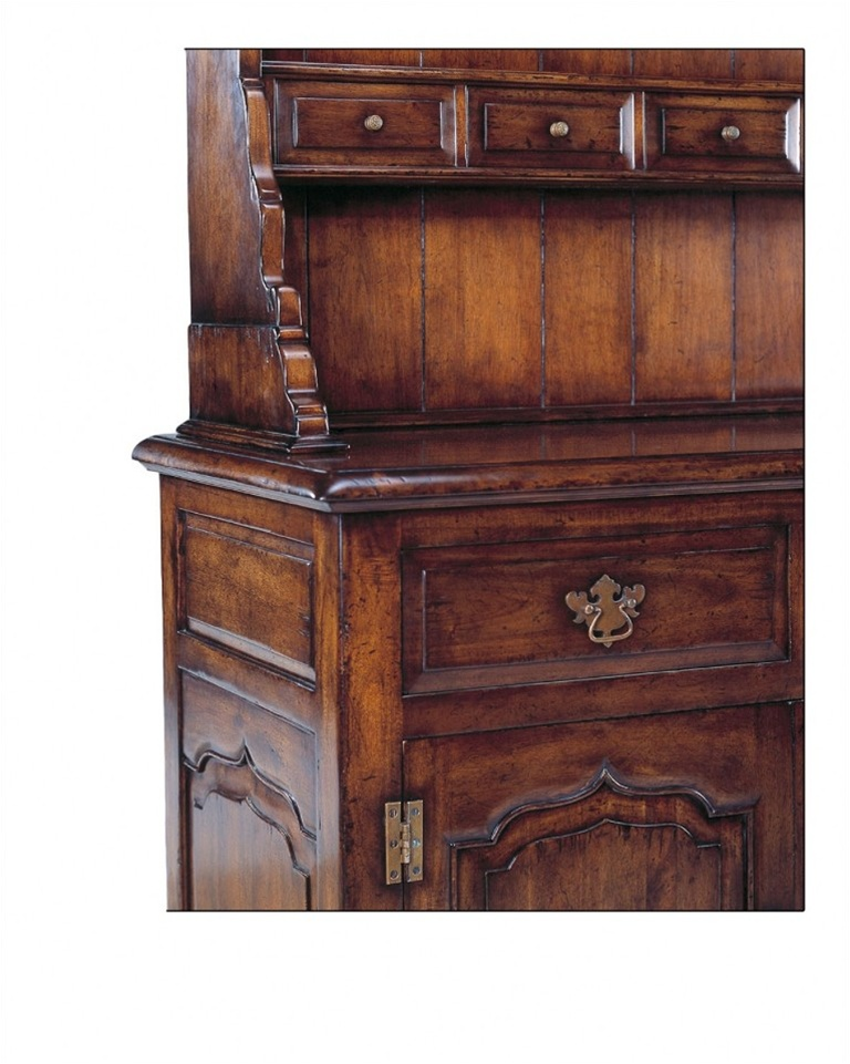 Bar Furniture Welsh Dresser Wine Rack With Hutch Top Containing Small Drawers