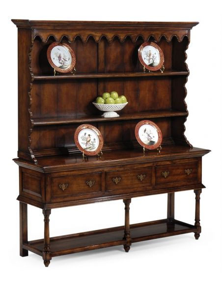 Breakfronts & China Cabinets Walnut Dressers with Mirrors-37