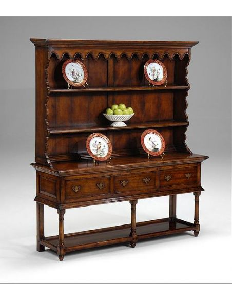 Breakfronts & China Cabinets Walnut Country Dresser