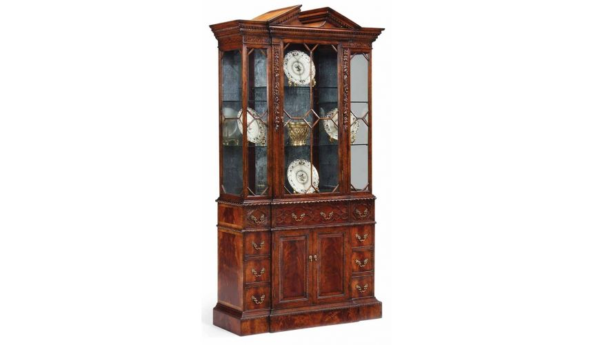 Breakfronts & China Cabinets Mahogany China Display Cabinet-52