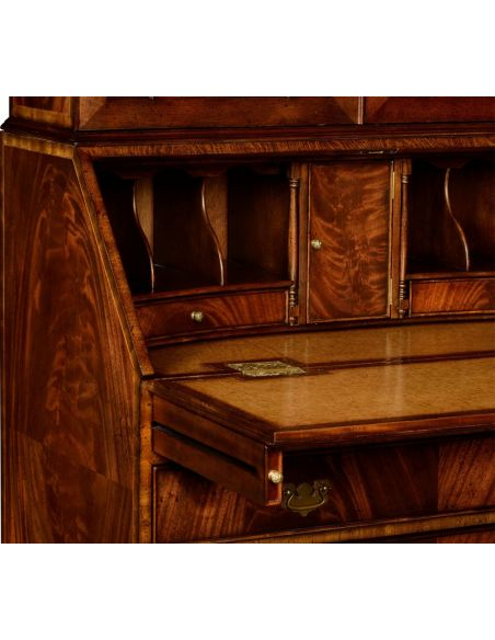 Executive Desks Crotch Mahogany Bureau Secretary