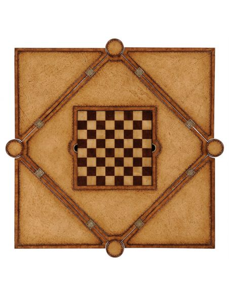 Square & Rectangular Side Tables Backgammon Card and Chess Table-66