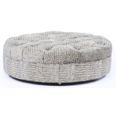 Plush furniture. Large ottoman with modern styling. 86