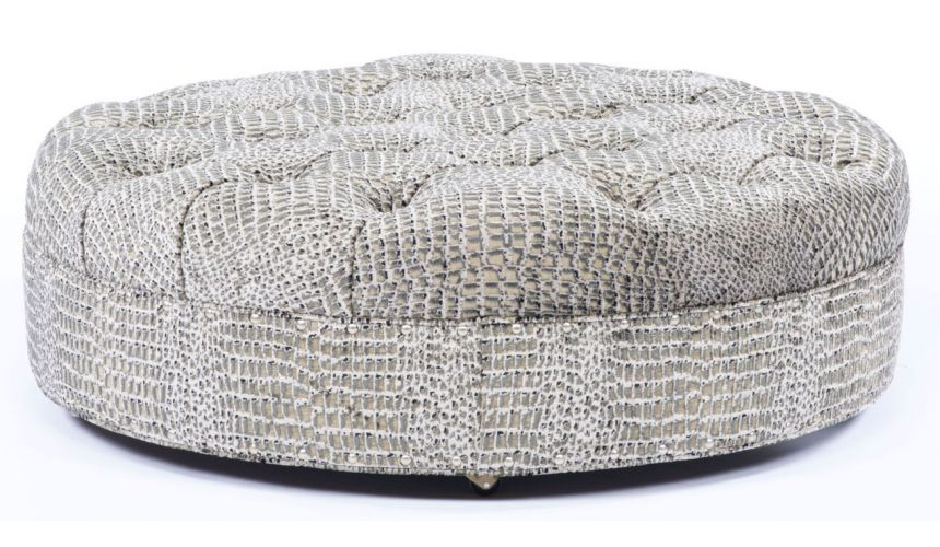Luxury Leather & Upholstered Furniture Plush furniture. Large ottoman with modern styling. 86