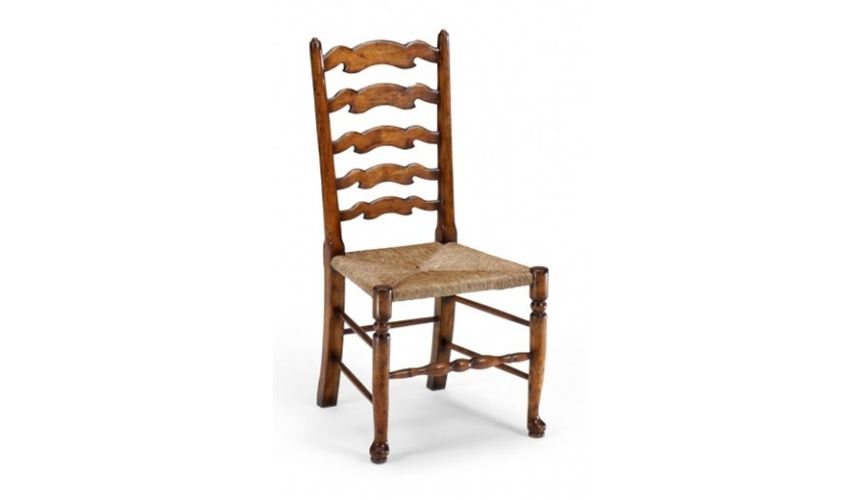 Dining Chairs Ladder Back Side Chair Luxury Dining Room Furniture