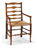 High Quality Dining Room Furniture Small Ladder Back Arm Chair