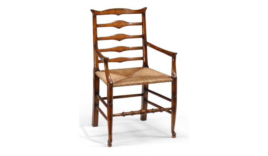 Dining Chairs High Quality Dining Room Furniture Small Ladder Back Arm Chair