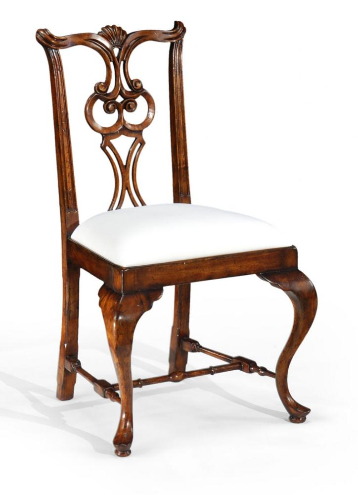 high quality dining room furniture pierced back side chair