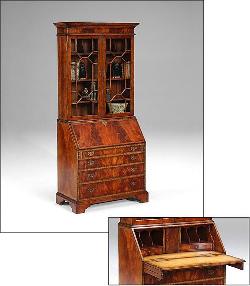 office furniture crotch mahogany bureau. Black Bedroom Furniture Sets. Home Design Ideas