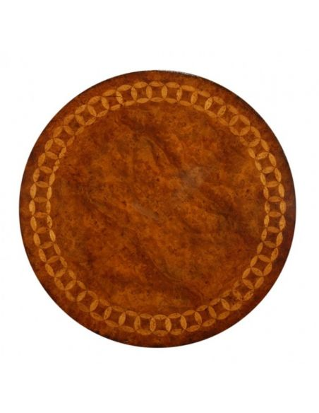 Round & Oval Side Tables High Quality Furniture Round Side Table with burl veneer top