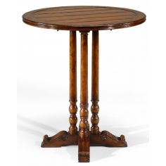 Antique Wooden Round Bar Table Furniture-37