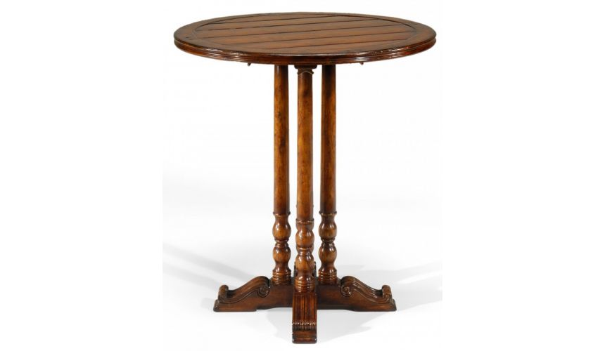 Round & Oval Side Tables Antique Wooden Round Bar Table Furniture-37