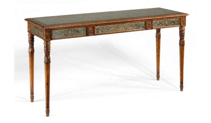 Breakfronts & China Cabinets Large Eglomise Console Table
