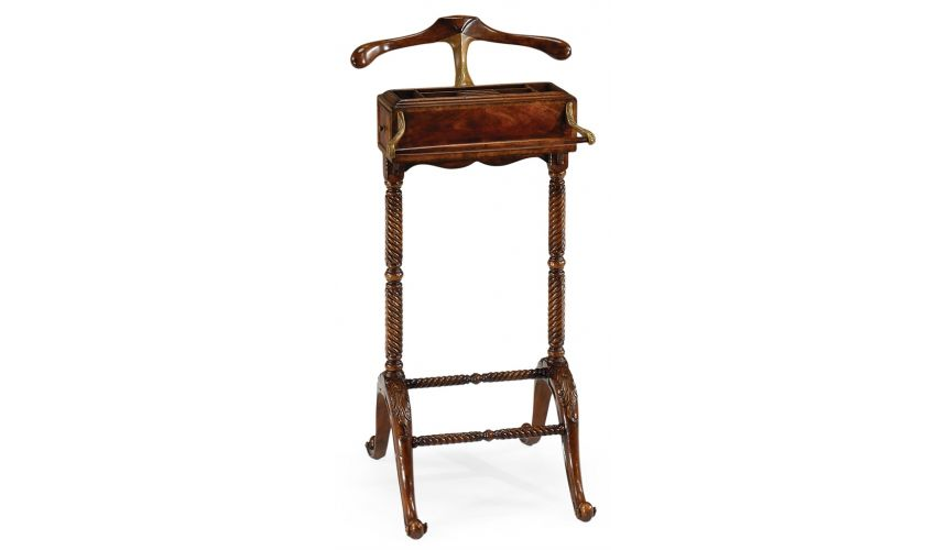 Decorative Accessories Mahogany Clothing Valet Stand-45