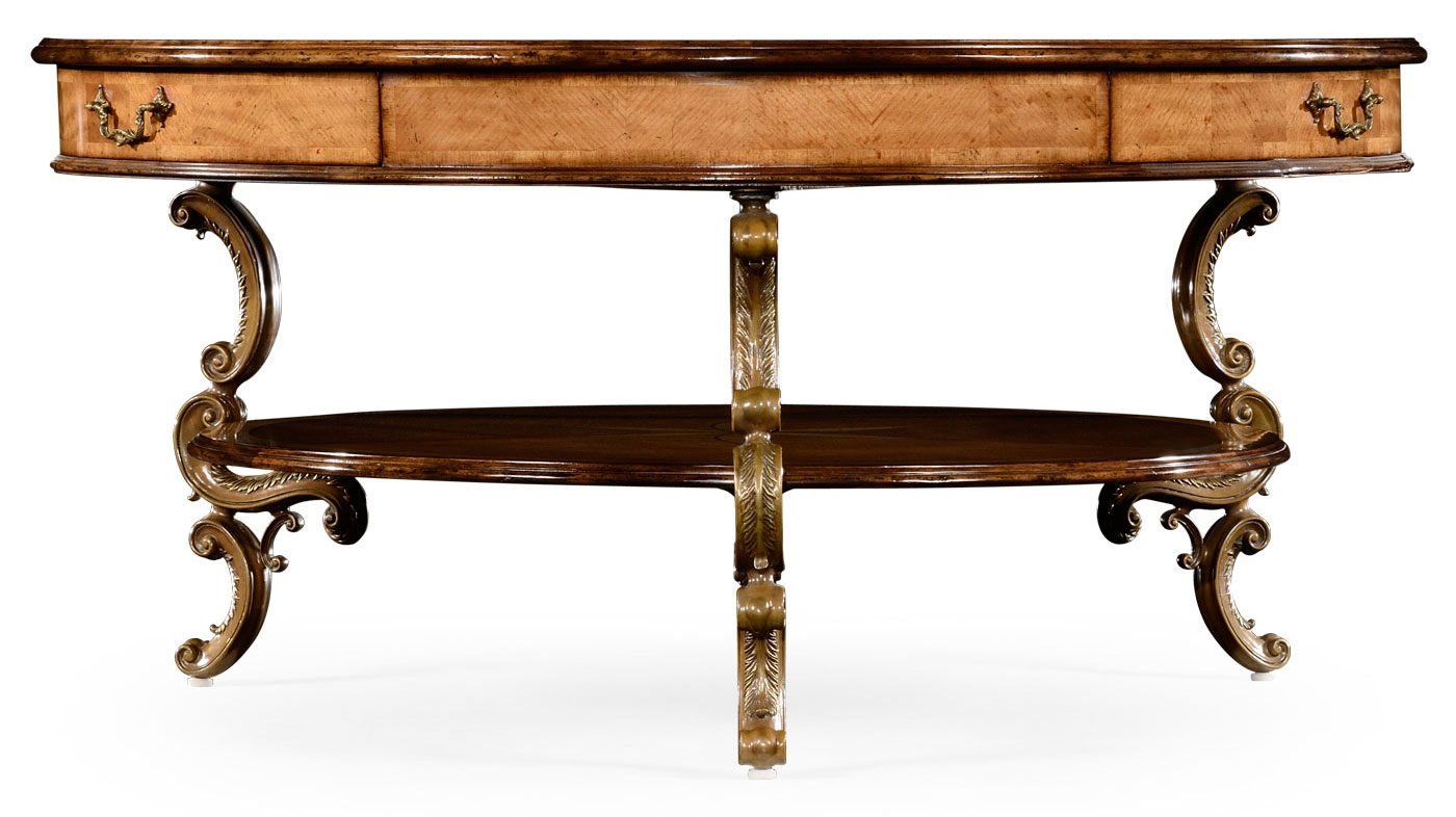 Rococo Style Satinwood Veneered Two Tier Coffee Table 55