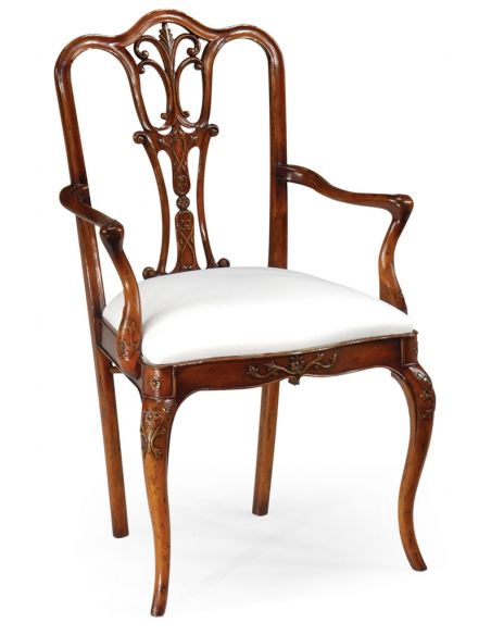 Dining Chairs 18th Century Style Mahogany Armchair-76