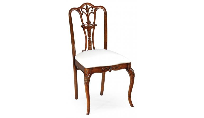 Square & Rectangular Side Tables Mahogany Decorative Side Chair-78