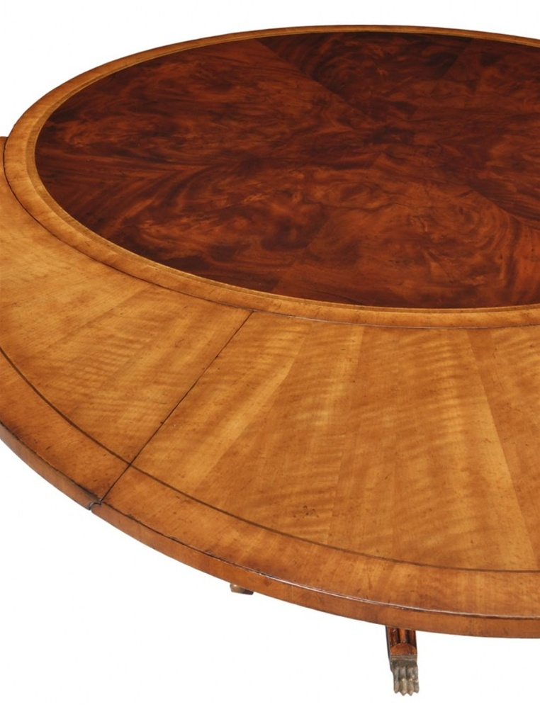 Round to oval table dining table high end dining rooms for Round table dining suites