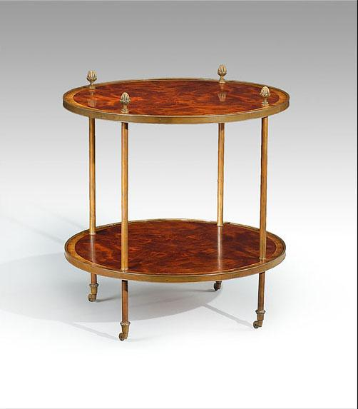 Great Round U0026 Oval Side Tables High Quality Furniture Round Lamp Table With Brass Pine  Cone Finials
