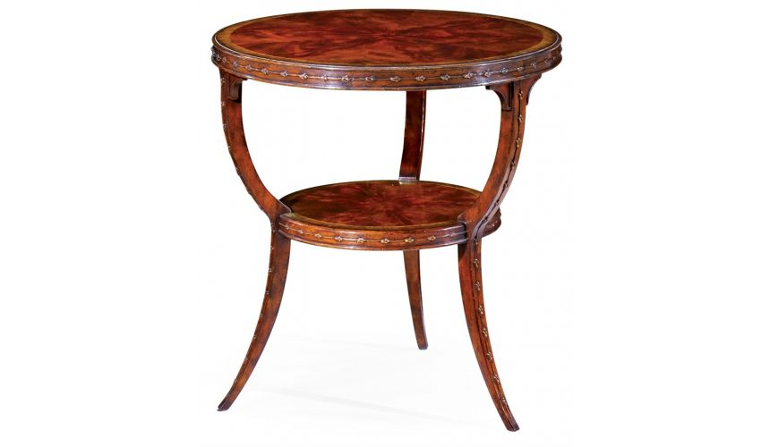 Round & Oval Side Tables Table with Round Top and Under-Tier-99