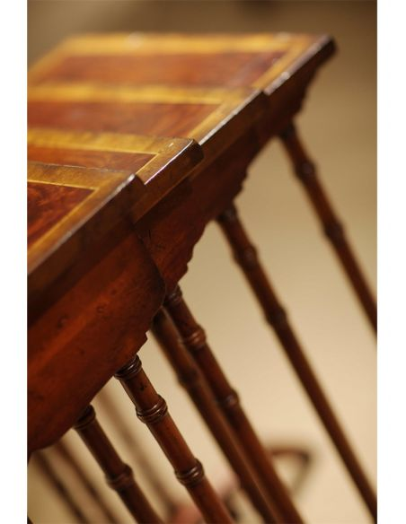 Square & Rectangular Side Tables Regency style Mahogany Four Tables Sets-02