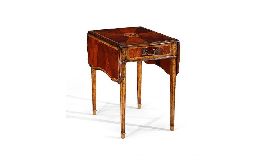 Square & Rectangular Side Tables Luxury Furniture Pembroke Table