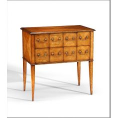Chest Of Drawers eight drawers with diamond veneer inlay