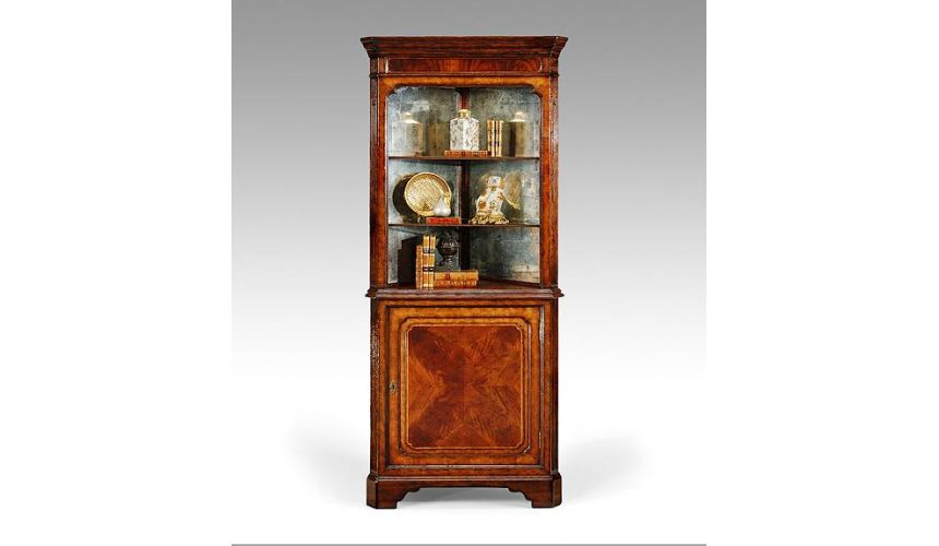 Breakfronts & China Cabinets Dining table furniture. Mahogany corner display cabinet.