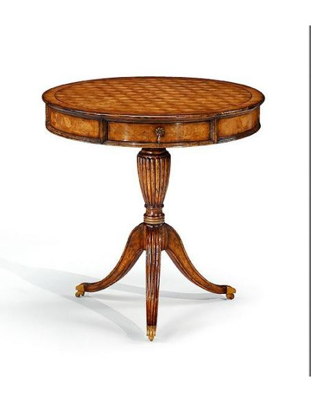 Round & Oval Side Tables High Quality Furniture Round Side Table with hand carved tripod base