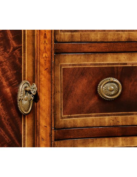 Regency style Crotch Mahogany Veneered Sideboard-39