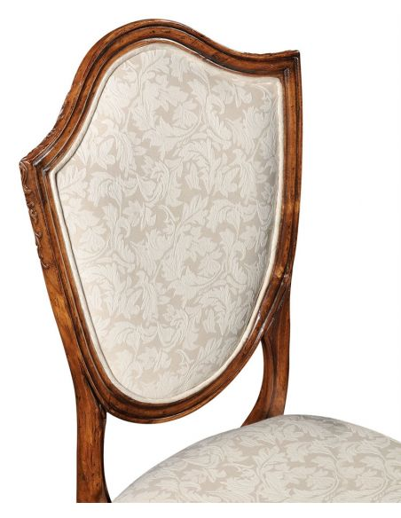 Square & Rectangular Side Tables Classic Hepplewhite style Walnut Side Chair-48