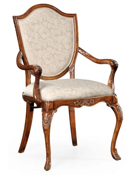 Square & Rectangular Side Tables Classic Hepplewhite style Walnut Armchair-93