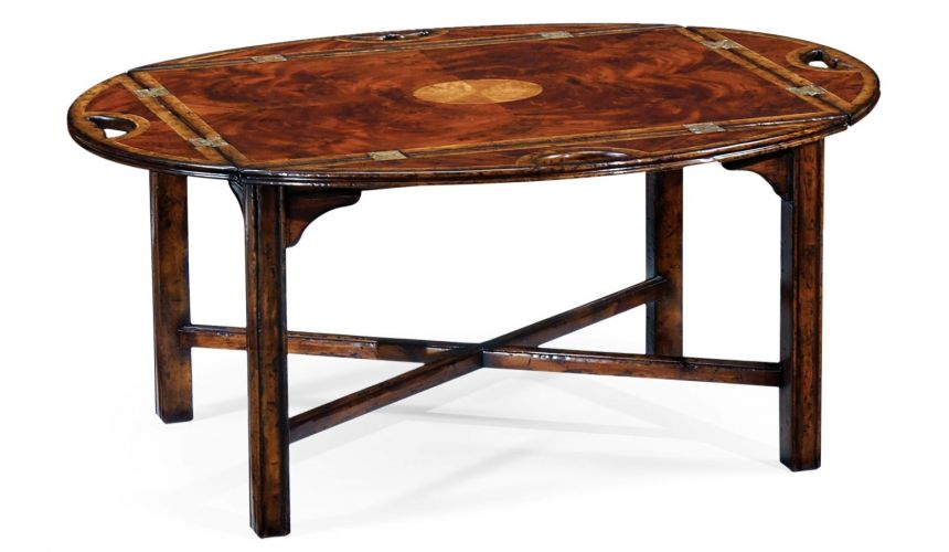 Coffee Tables High End Furniture Rectangular Butler'S Tray Table