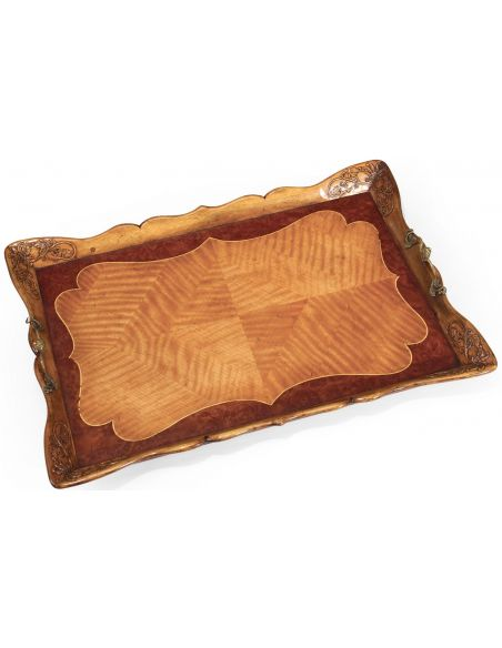 Other Home Accessories Satinwood carved rectangular tray