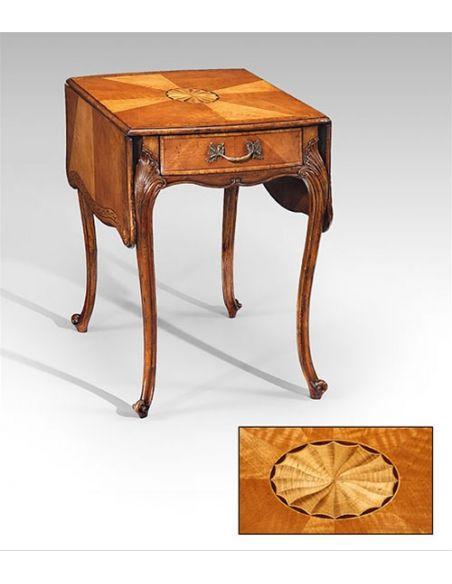 Square & Rectangular Side Tables Rectangular Luxury Furniture Satinwood Pembroke Table - Side, Lamp & Bedside