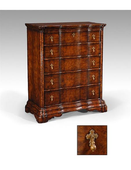 Chest of Drawers Large Walnut Chest Of Drawers in Dark Walnut