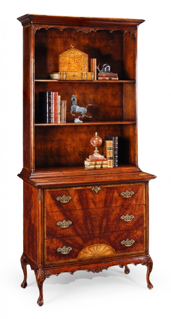 High End Furniture Mahogany Bookcase Chest Of Drawers