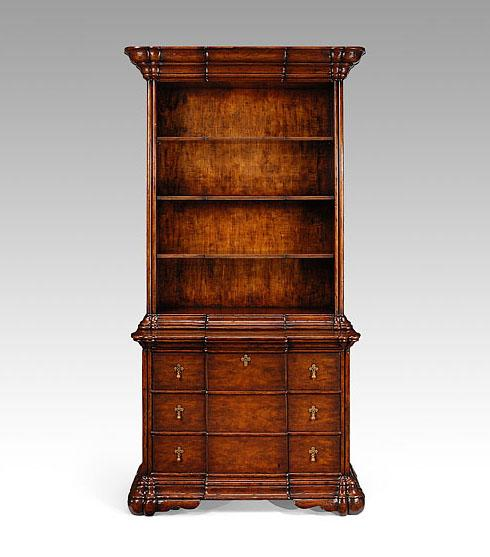 High End Furniture Home Office Bookcase On Chest In Dark