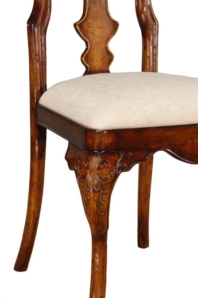 High End Dining Rooms Furniture Veneered Back Side Chair