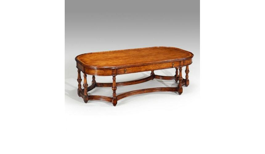 Coffee Tables High End Furniture Rectangular Coffee Tables with with eight hand turned legs