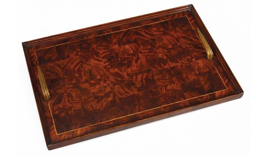 Square & Rectangular Side Tables Art Deco style Rectangular Serving Tray-65