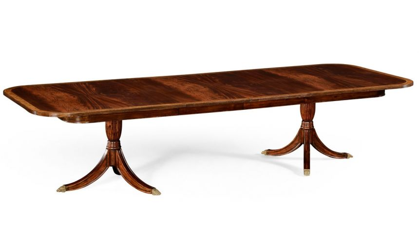 Dining Tables High End Dining Rooms Extending Mahogany Large Dining Table,